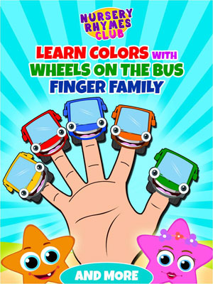 Learn Colors With Wheels On The Bus Finger Family And More